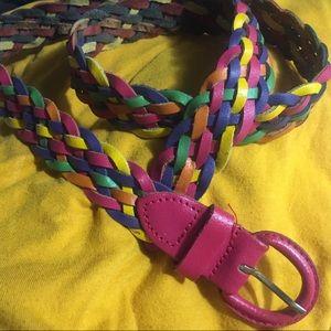 80sBraided Leather Belt